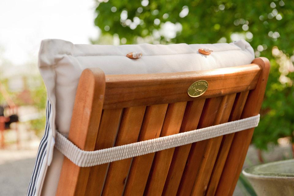 Teak Esstisch Pflegen :  Garnitur mit Auflagen Akazie Holz wie Teak Balkonmöbel Sitzgruppe 88