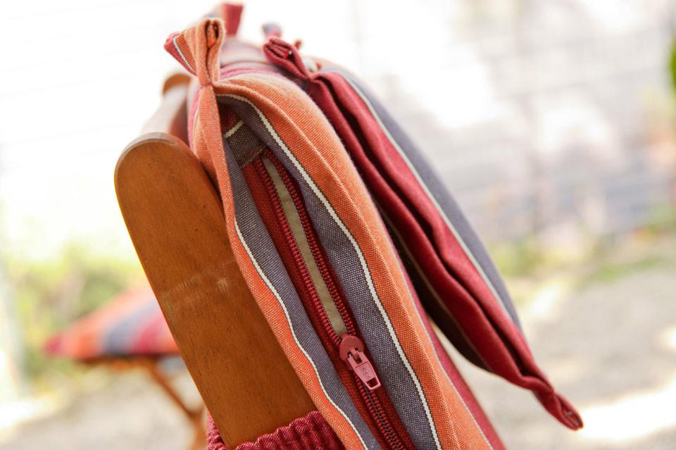 bequeme auflage mit rei verschluss f r hochlehner gartenst hle stuhl venezia 89 ebay. Black Bedroom Furniture Sets. Home Design Ideas