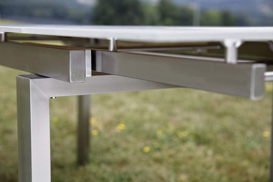 Gartentisch Holz Ausziehbar 90 Cm ~ 160 cm ausziehbar auf 200 cm und 240 cm tischbreite 90 cm höhe